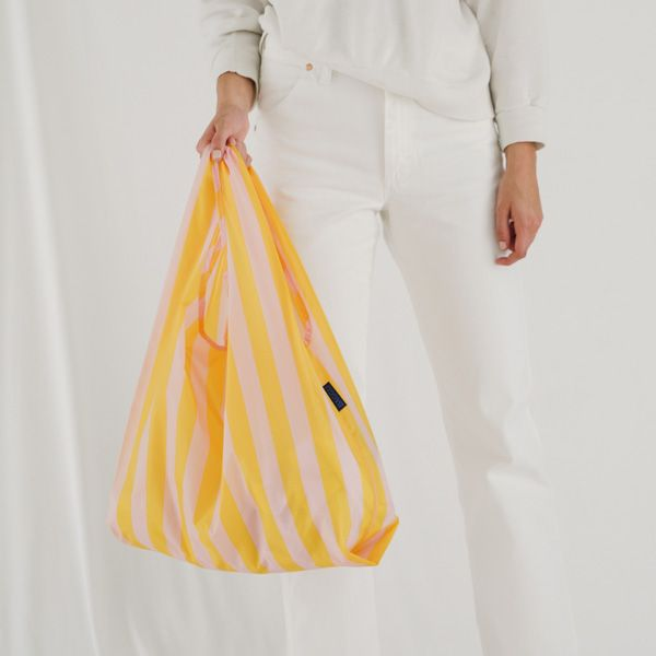 BAGGU Standard Bag オレンジストライプ