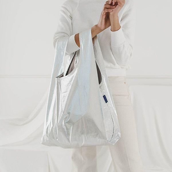 BAGGU Standard Bag メタリックシルバー