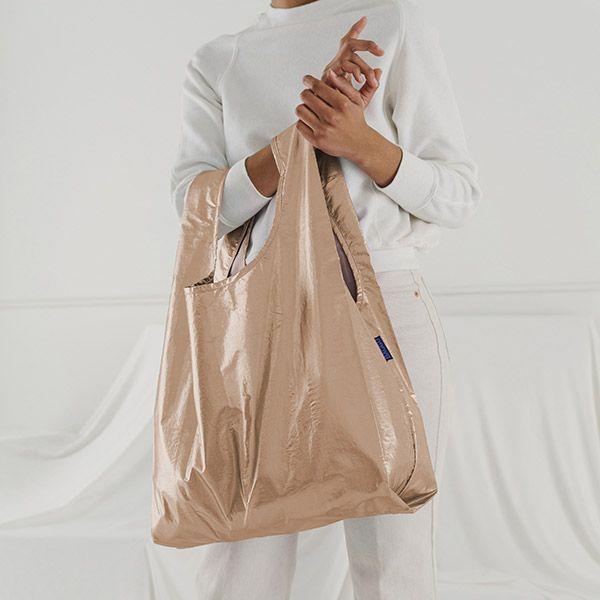 BAGGU Standard Bag メタリックピンクゴールド