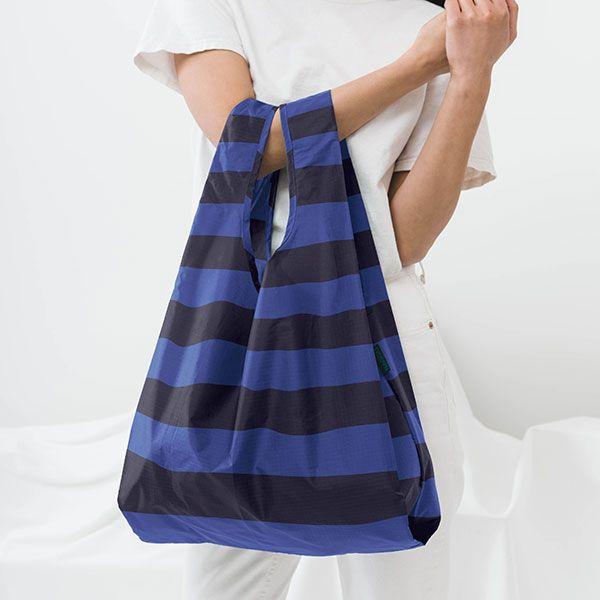 BAGGU Standard Bag ブルーストライプ