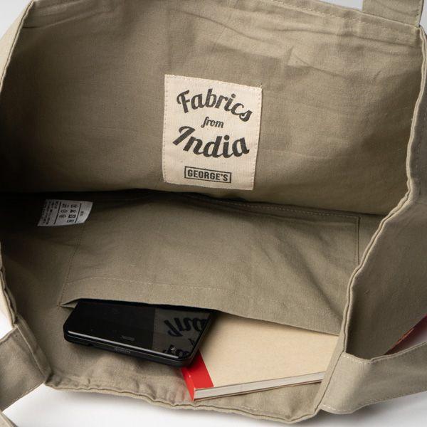 インド刺繍 ラウンドトートバッグ テラコッタ