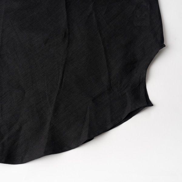 リネンドルマンワンピース ブラック