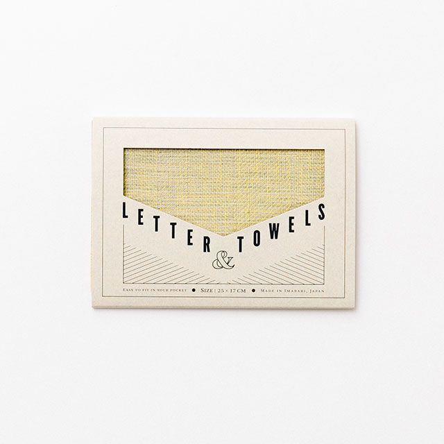 LETTER & TOWELS イエロー / 水布人舎