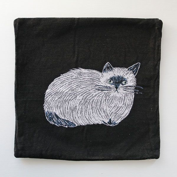 松尾ミユキ クッションカバー FURRY CAT 45×45