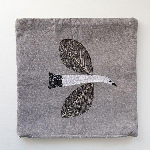 松尾ミユキ クッションカバー BIRD 45×45