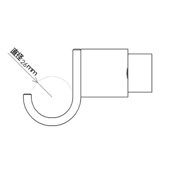 【オンライン限定】フックA 縦取付 ブラック