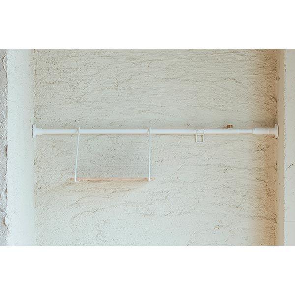 【オンラインストア限定】テンションロッドA シェルフ&ハンガーセット ホワイト