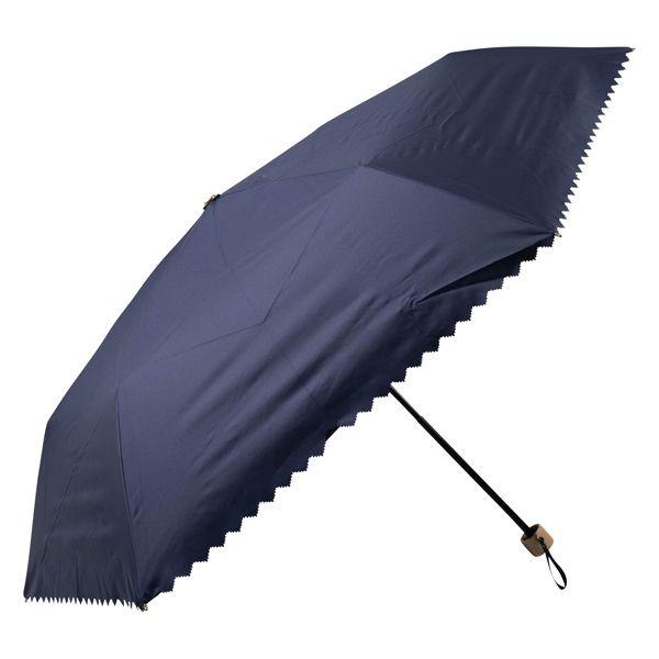 晴雨兼用ミニ傘 ギザギザヒートカット ネイビー