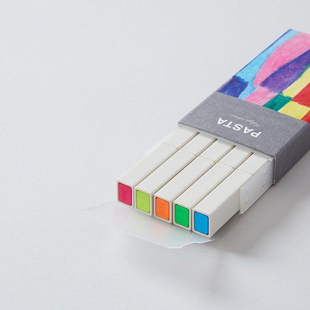 PASTAマーカーセット 蛍光5色 / KOKUYO
