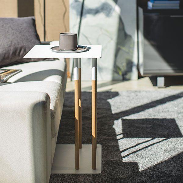 【オンライン限定】PLAIN 差し込みサイドテーブル ホワイト