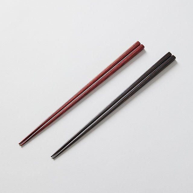 樺の木 先細箸 赤 / 大岸正商店