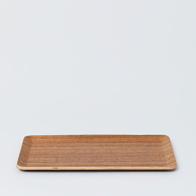 テーブルトレイ 22×12cm チーク / KINTO