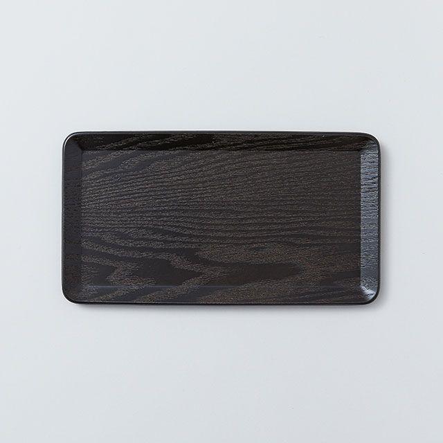 テーブルトレイ 22×12cm ブラック / KINTO