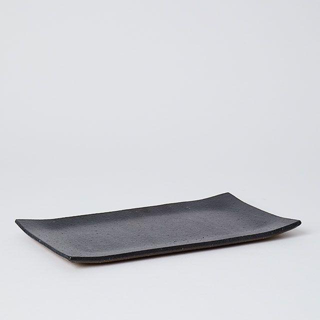 明山窯×TODAY'S SPECIAL 焼物皿 黒