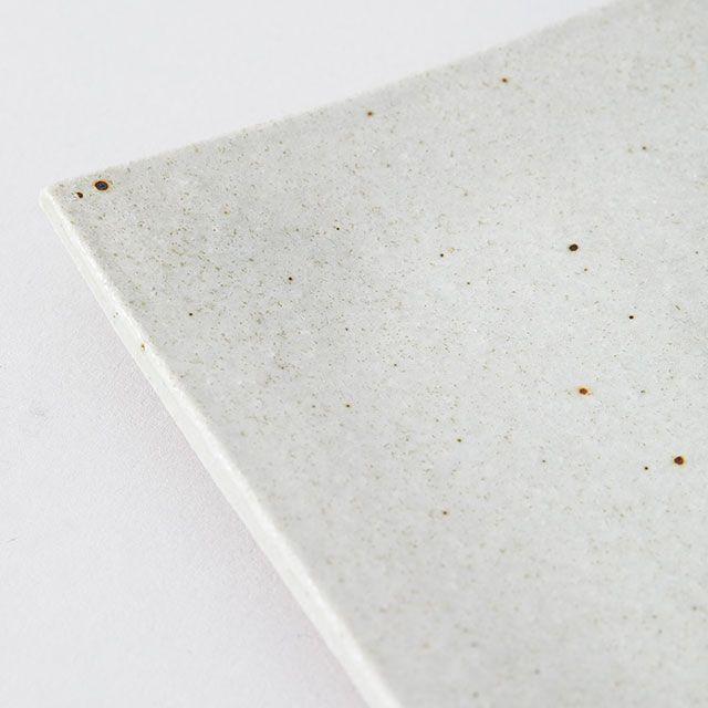 明山窯×TODAY'S SPECIAL 焼物皿 白