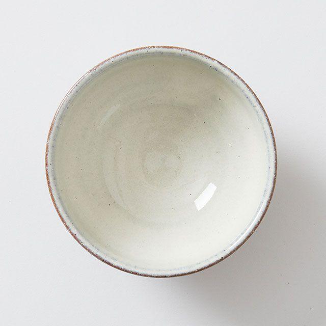 しのぎのめし碗 白釉彫 / 炎の味がま×TODAY'S SPECIAL