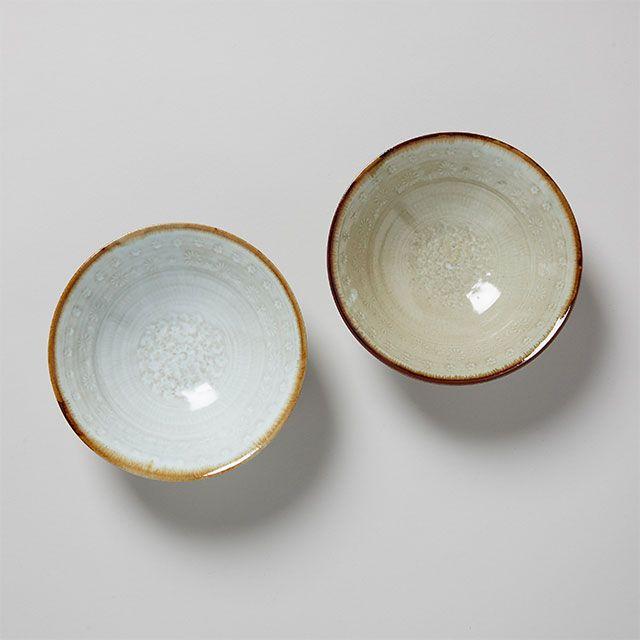 三島手の六寸鉢 薄白 / 筒山太一窯×TODAY'S SPECIAL