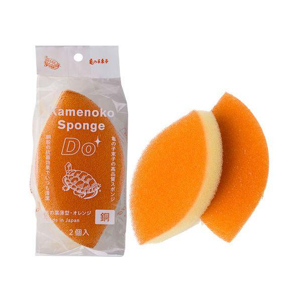 亀の子スポンジ DO 木の葉型 2個入 オレンジ