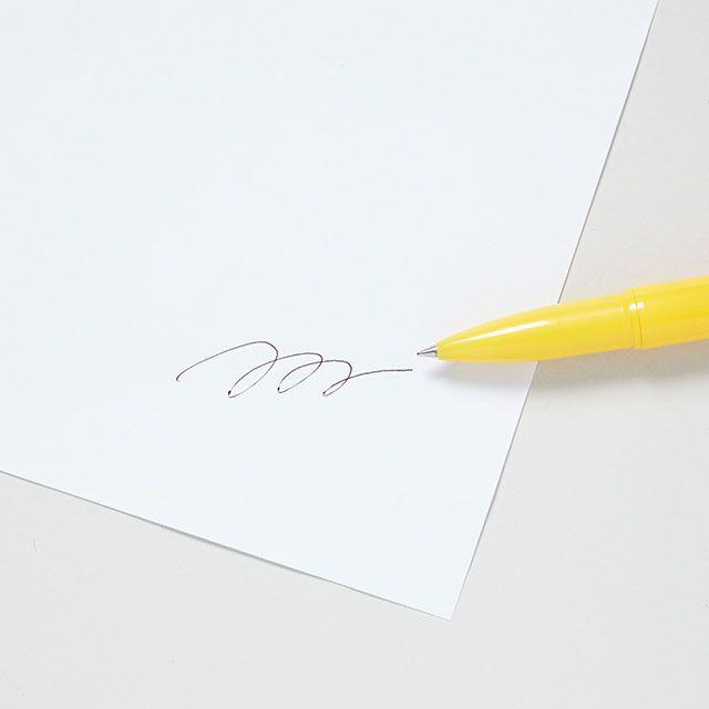バレットボールペン ライト イエロー / penco