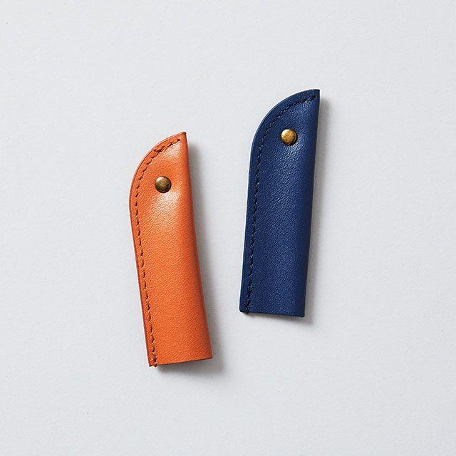 新工精機 レザー鉛筆キャップ L ブルー