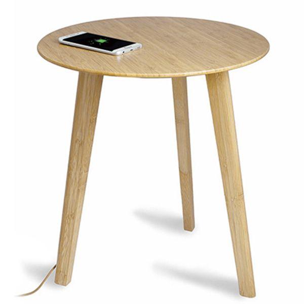 【オンライン限定】スピーカー機能付き スマートテーブル ナチュラル