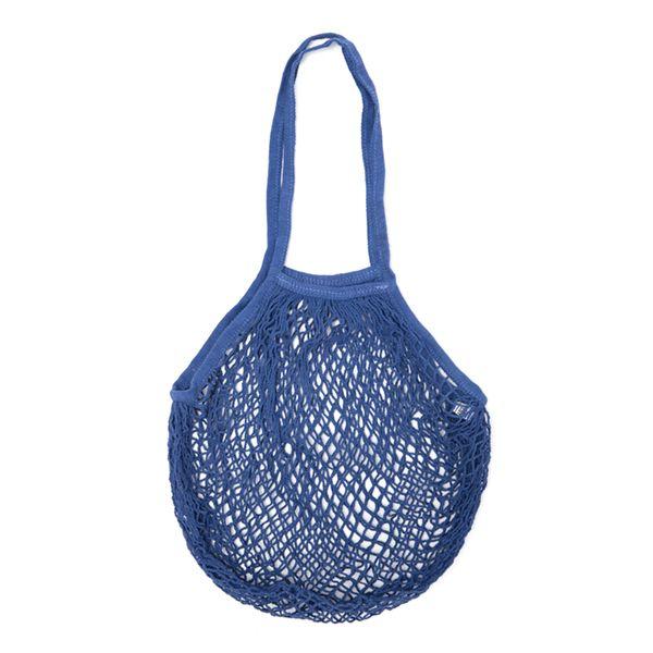 ネットバッグ ブルー