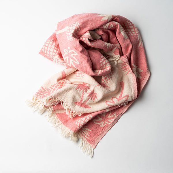 BARiNE / バリーネ タオルスロー 90×160 パイン ピンク