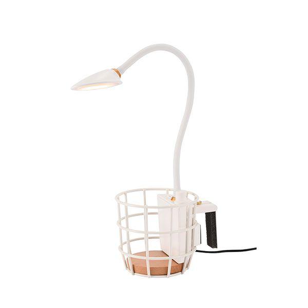 USB ワイヤーバスケットライト ホワイト