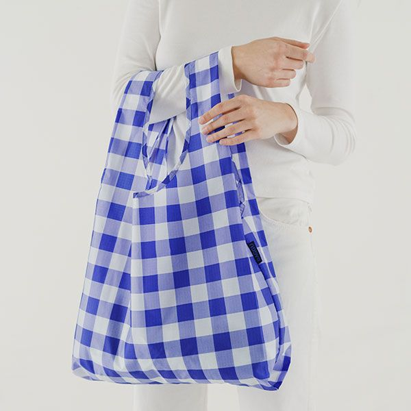 BAGGU Standard Bag ビッグギンガム ブルー