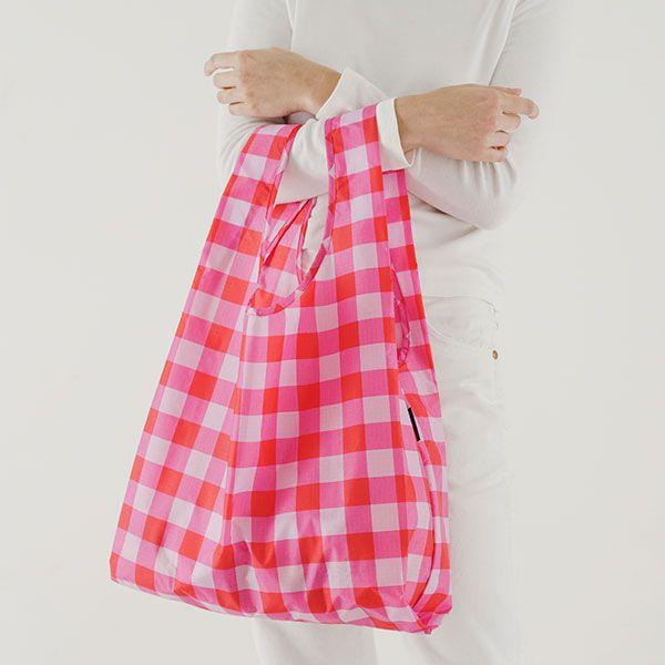BAGGU Standard Bag ビッグギンガム ピンク