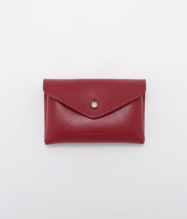 Hender Scheme  one piece card case/RED