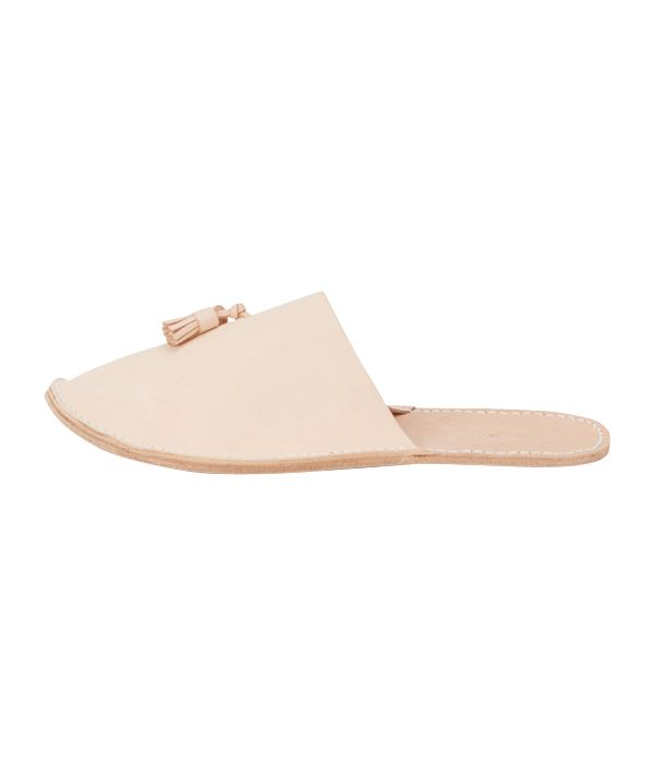 Hender Scheme leather slipper (natural)/S