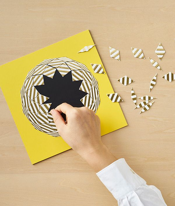 PAPER RHOMBUS PUZZLE GOLD