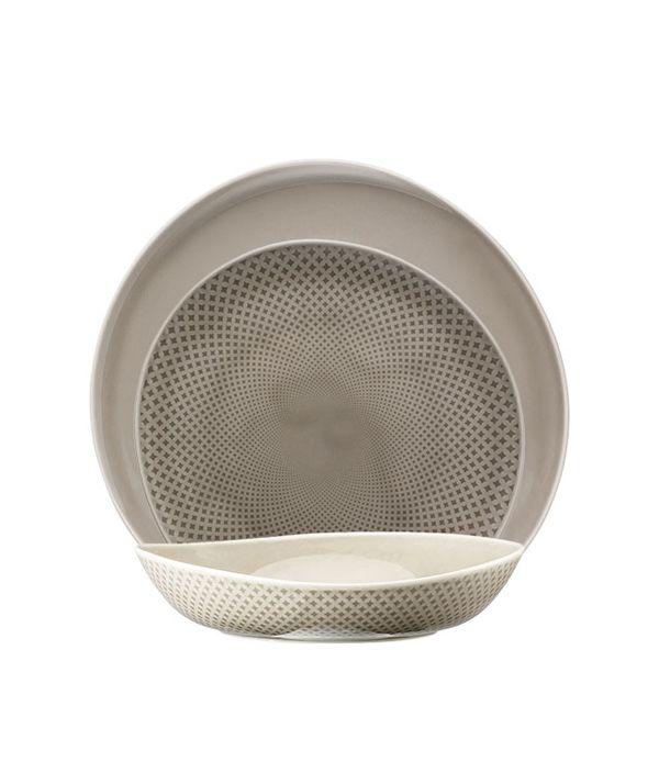 Junto Series Pearl Grey/Deep Plate 22cm