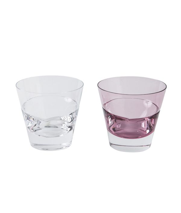 duoオールドグラスペア 桐箱セット CLEAR × WINE RED