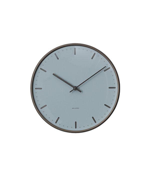 Wall Clock City Hall Royal Blue 210mm