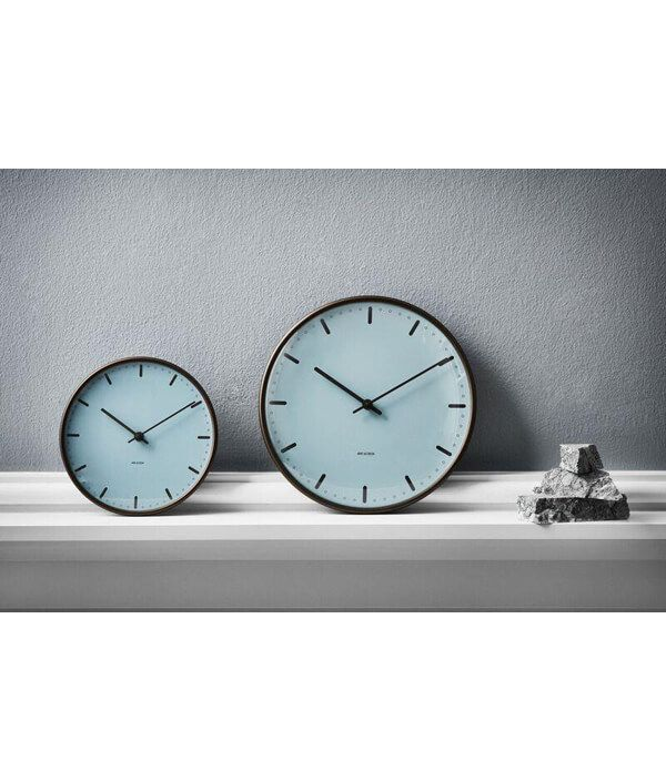 Wall Clock City Hall Royal Blue/290mm