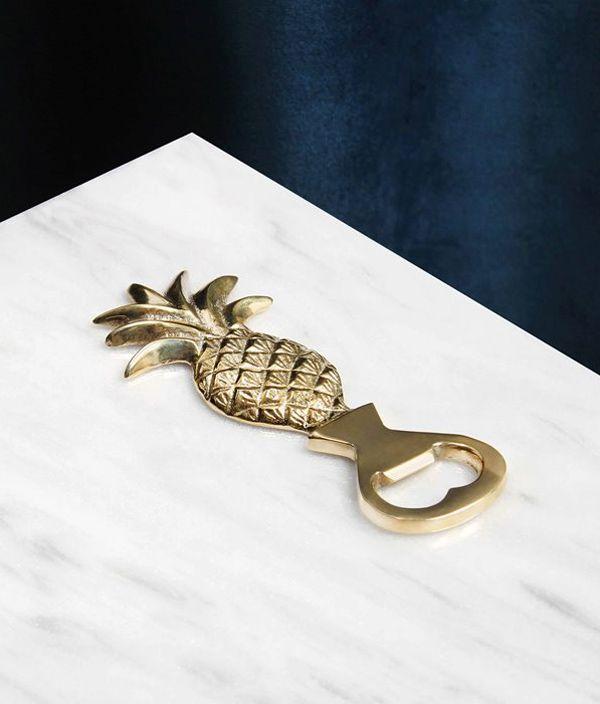 Pineapple bottle opener  brass