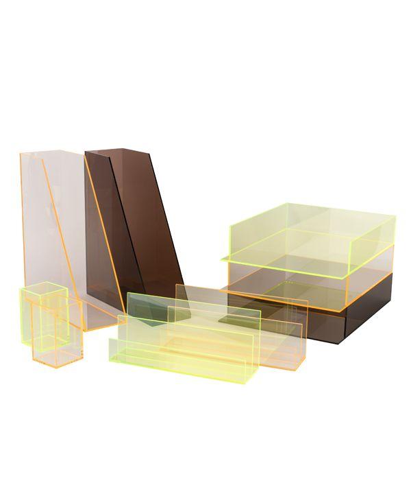 ORIGINAL ACRYLIC  FILE BOX / PINK