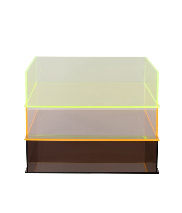 ORIGINAL ACRYLIC  FILE TRAY / NEON GREEN
