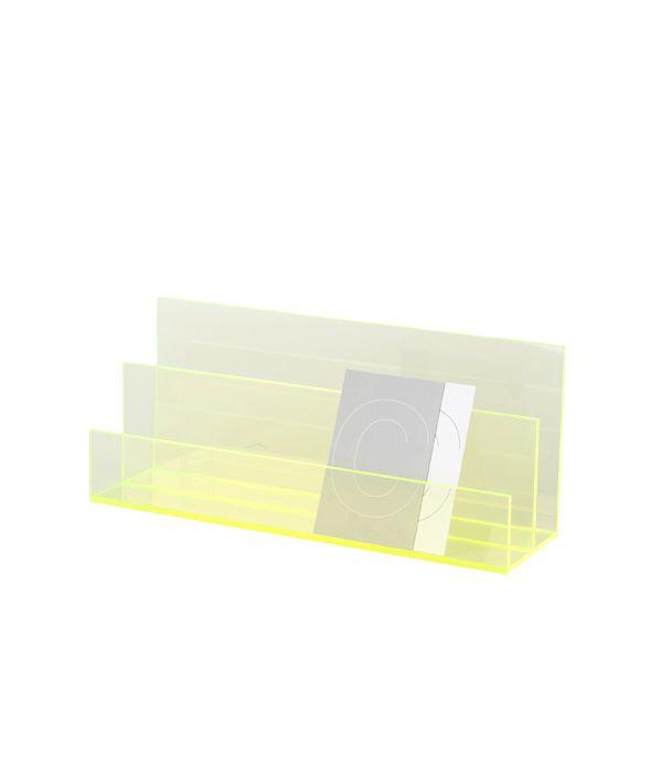 ORIGINAL ACRYLIC  LETTER CARD CASE / NEON GREEN