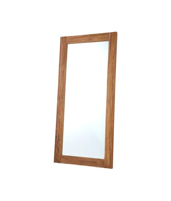 OLD teak mirror