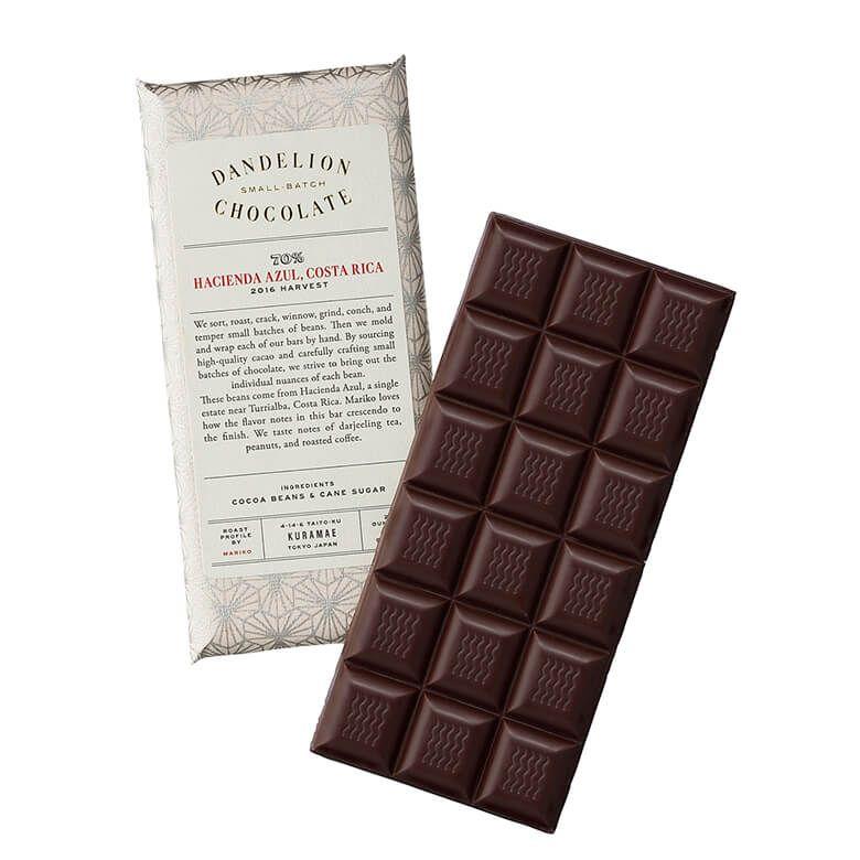 ダンデライオン・チョコレート ハシエンダ・アズール コスタリカ 70%
