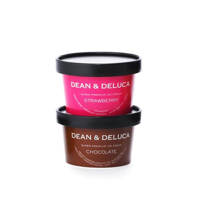 DEAN & DELUCA  スーパープレミアム アイスクリーム(ストロベリー&チョコ)