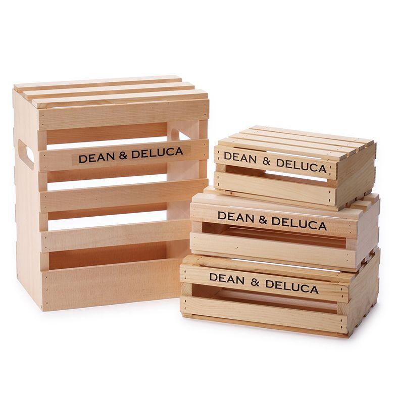 DEAN & DELUCA ウッドクレートボックス Mサイズ
