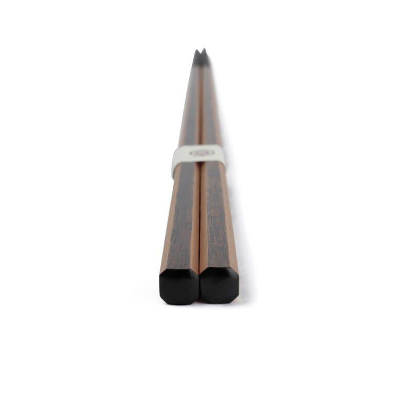 土直漆器 亀甲箸光線(金) 黒 24cm