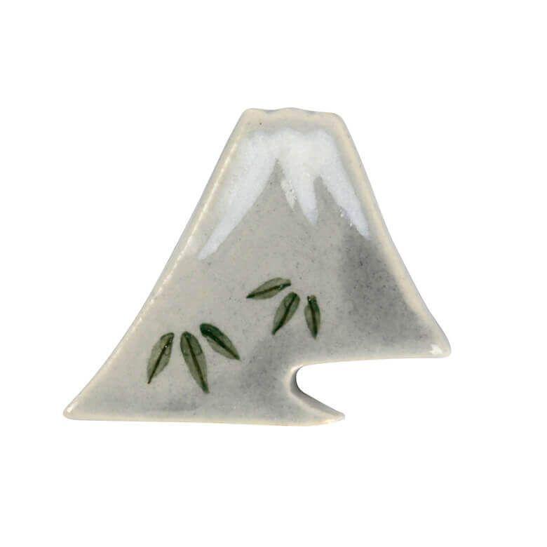陶泉窯 富士山はし置き 【竹】