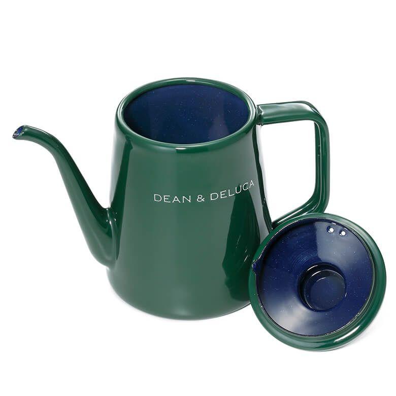 DEAN & DELUCA ホーローケトル グリーン1L