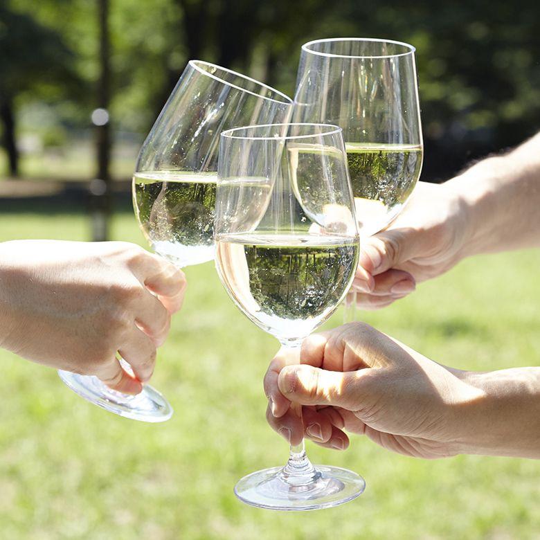 落としても倒しても、割れない、ワイングラス