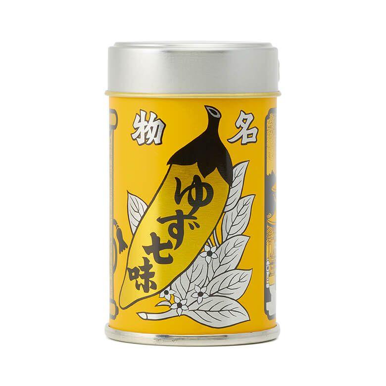 八幡屋礒五郎 七味唐辛子 ゆず入り 缶
